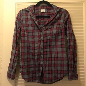 J. Crew fitted plaid button down women's shirt